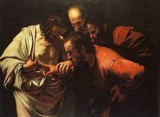 La incredulidad de Santo Tomas. Caravaggio. Wiquipedia